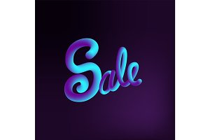 Sale 3d text message