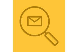Email search linear icon