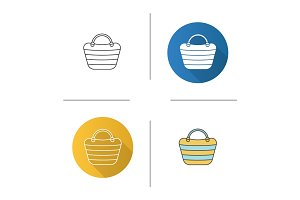 Beach bag icon