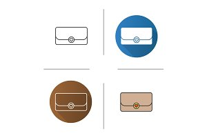 Clutch bag icon