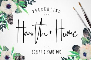 Hearth & Home Font Duo