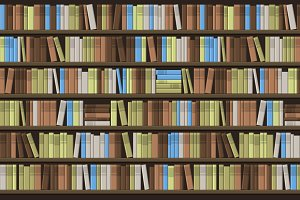 Library Book Shelf Seamless Back