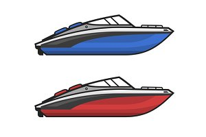 Motor Speed Boat Set