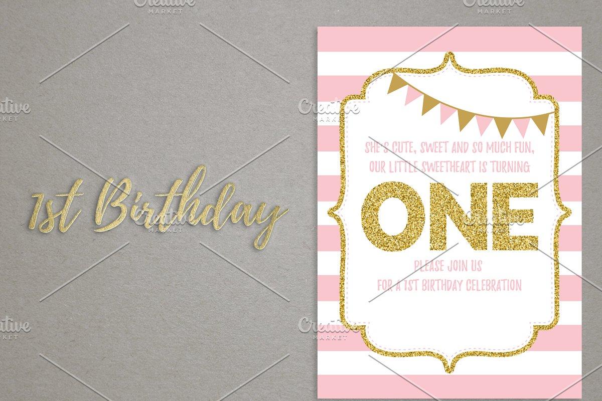 1st Birthday Invitation Card One