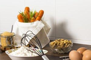 Carrot cake. Ingredients