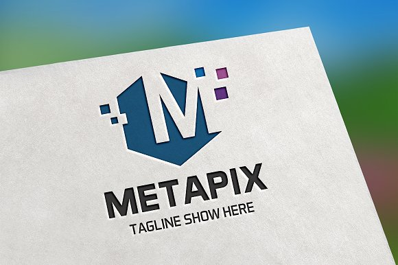 Metapix Letter M Logo in Logo Templates - product preview 1