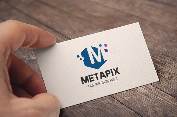 Metapix Letter M Logo in Logo Templates - product preview 2