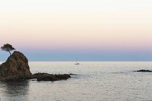 Sunset at Tossa de Mar.
