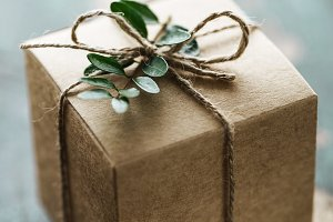 Wrapped rustic present