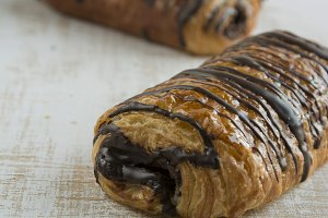 pastries filled with chocolate