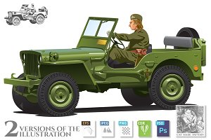 World war two army jeep