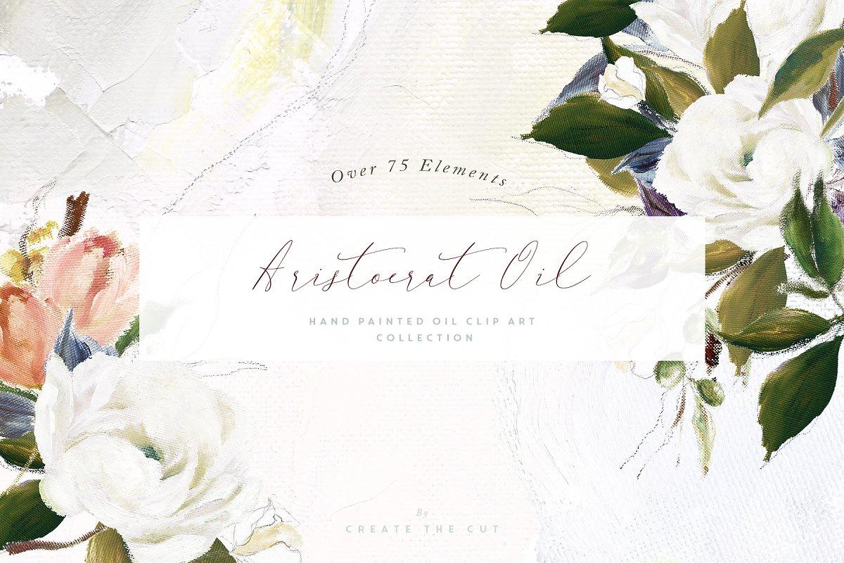 Aristocrat Hand Painted Oil Clip Art ~ Illustrations ~ Creative Market