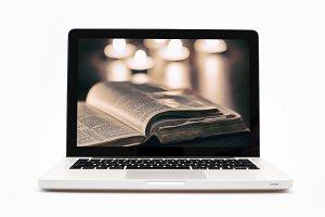 Sleek looking metallic finish laptop