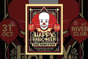 Halloween Party Clown Festival Flyer