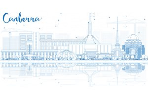 Outline Canberra Skyline