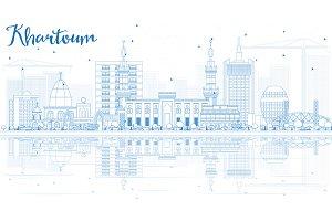 Outline Khartoum Skyline