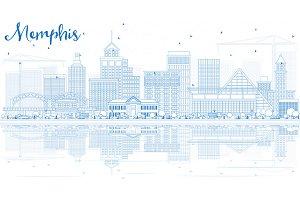 Outline Memphis Skyline