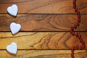 Three hearts misaligned necklace