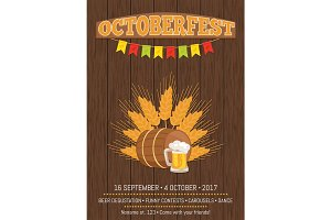 Oktoberfest Promotional Poster Vector Illustration