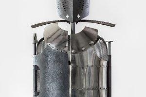 Stylized knight's armor.