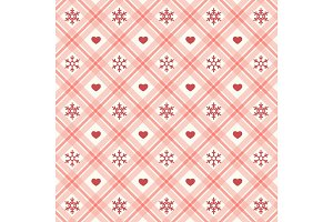 Festive retro Christmas seamless background in traditional colors
