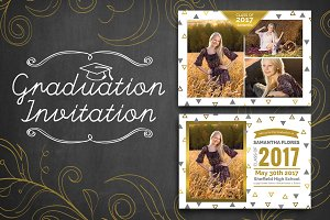 Graduation Invitation - Triangle
