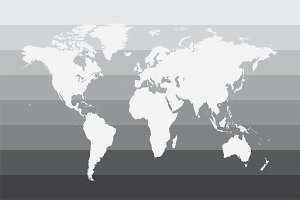 World map gray vector