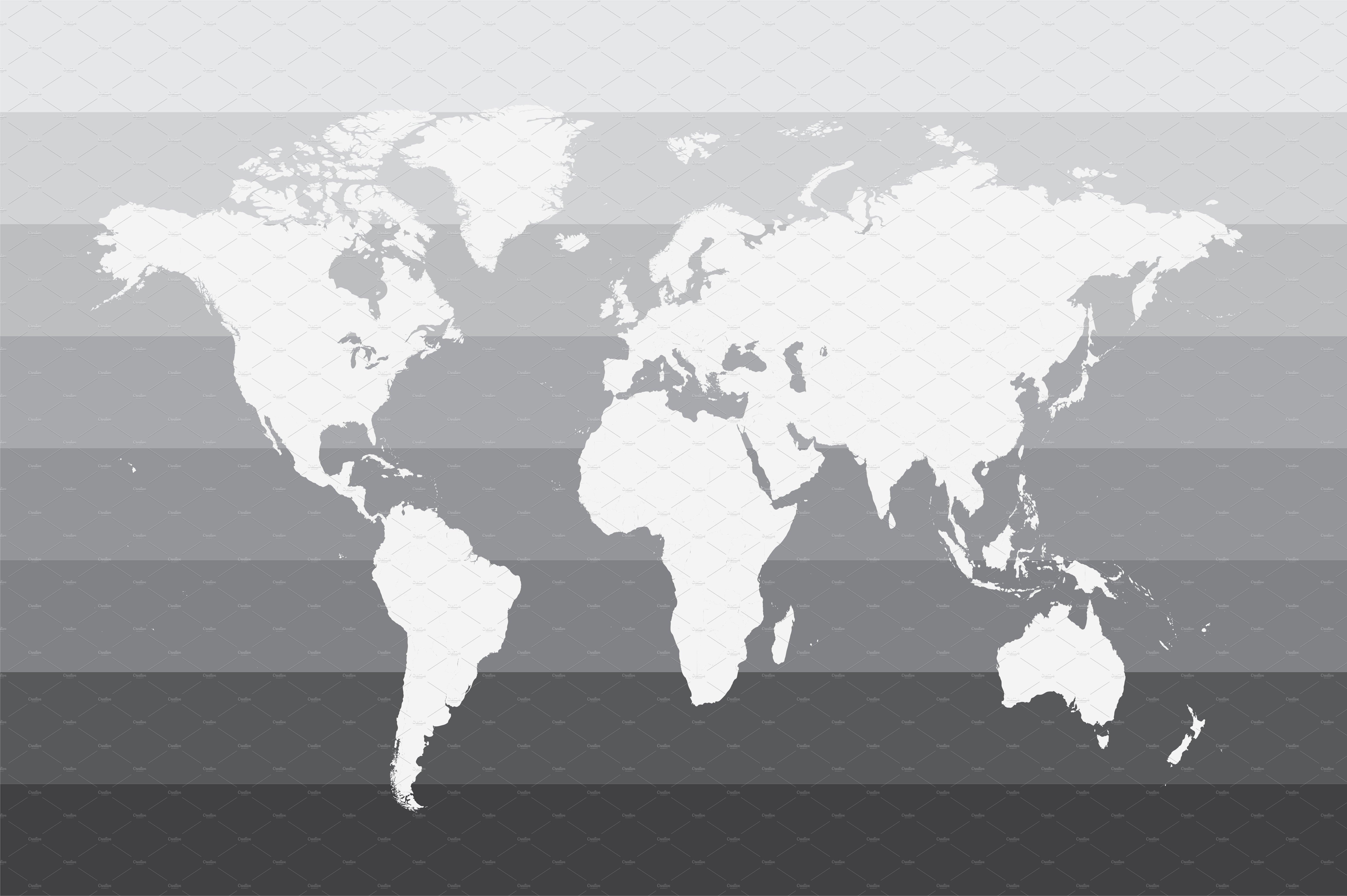 World Map Gray Vector Graphics Creative Market