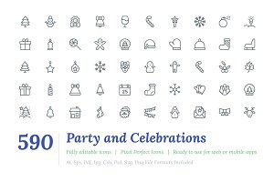 590 Party and Celebrations Line Icon