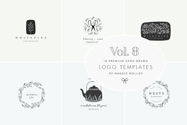 Feminine Premade Logo Bundle Vol. 8