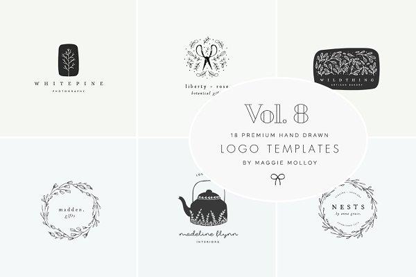 Feminine Premade Logo Bundle Vol. 8