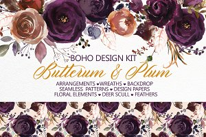 Butterum & Plum Boho Florals PNG