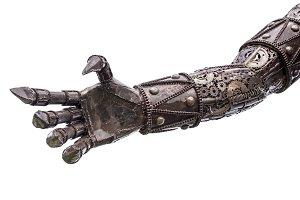 Hand of Metallic cyber or robot