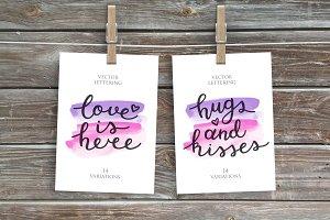 2 Love Lettering, 14 variations!