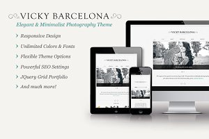 Vicky Barcelona - Elegant Portfolio