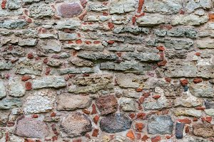Stone wall in old castle