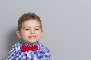 Young Boy Wearing Bow Tie