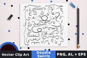 50 Decorative Doodle Swirls