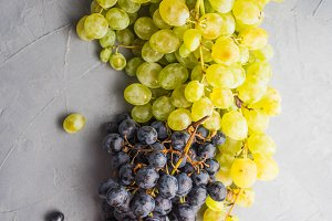 Rustic wine concept with grape