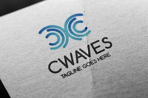 Cwaves (Letter C) Logo