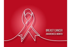 Logo design of breast cancer charity badge ribbon