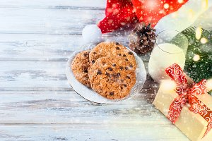 Milk and coocies for Santa