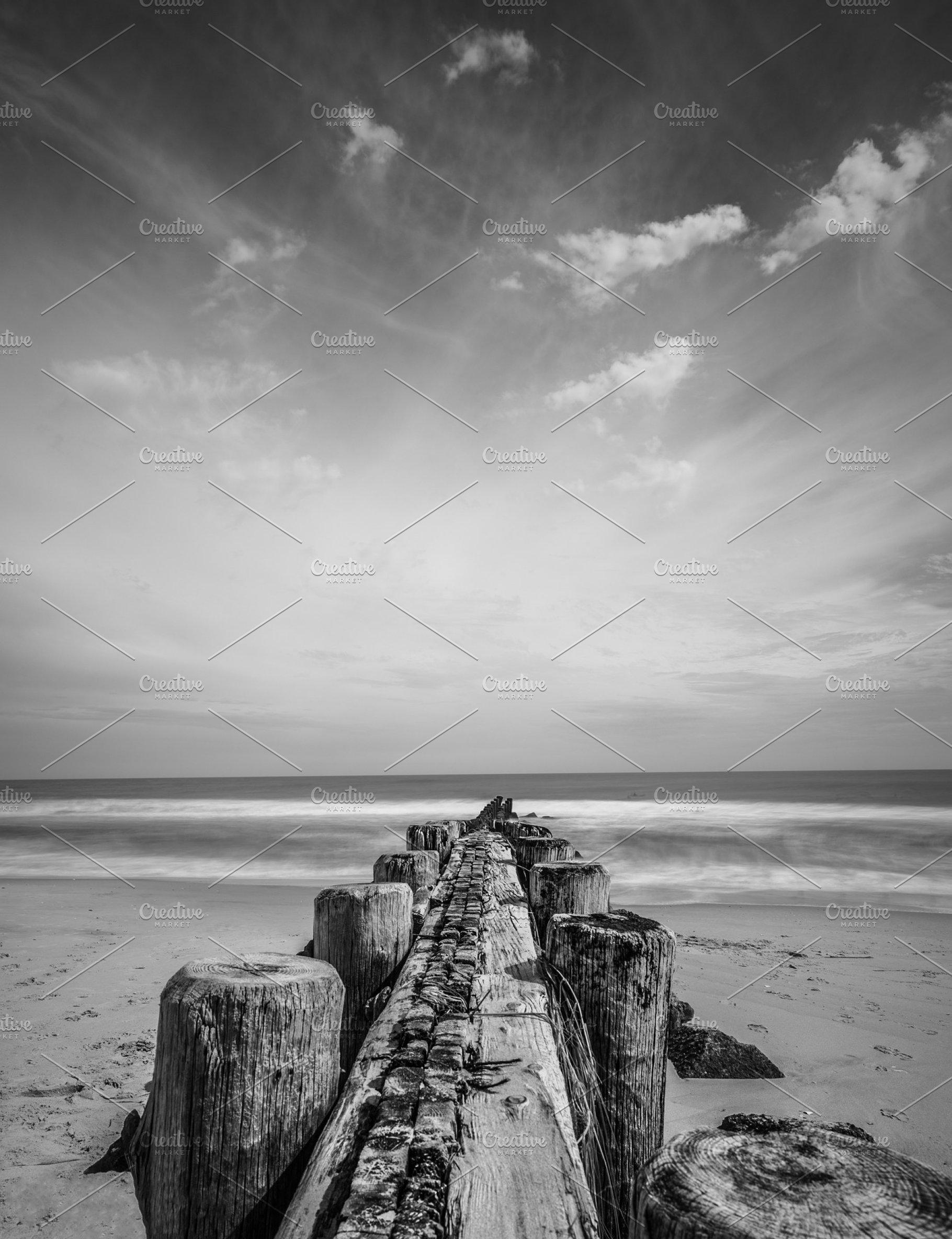 Jersey shore seascape