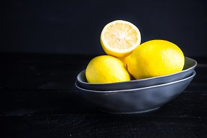Organic lemon fruits