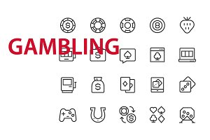 20 Gambling UI icons