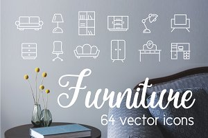 FURNITURE - vector icons