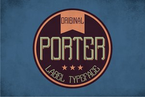 Porter Vintage Label Typeface