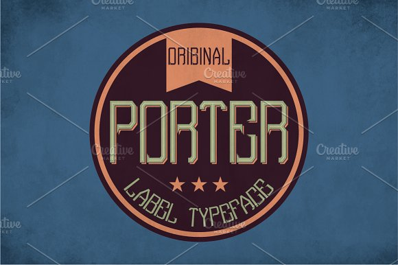 Porter Vintage Label Typeface in Display Fonts