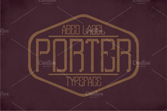 Porter Vintage Label Typeface in Display Fonts - product preview 2
