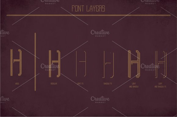 Porter Vintage Label Typeface in Display Fonts - product preview 3